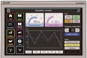 New widescreen HMIs from Mitsubishi